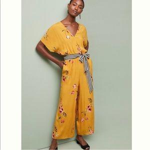 Corey Lynn Calter Yellow Floral Jumpsuit